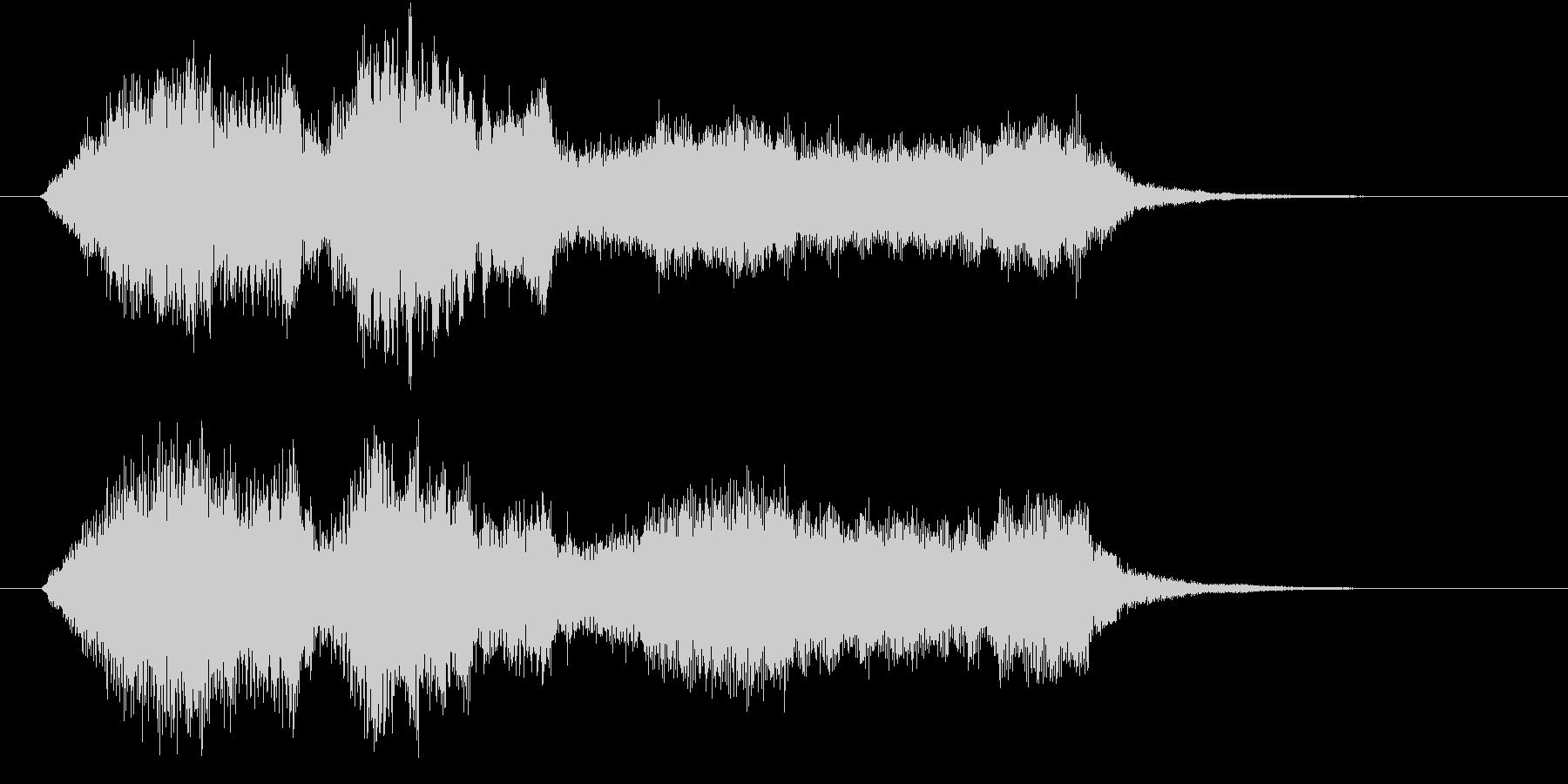 弦楽四重奏によるやわらかい印象のロゴの未再生の波形