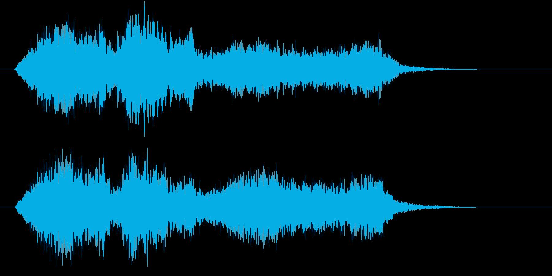 弦楽四重奏によるやわらかい印象のロゴの再生済みの波形
