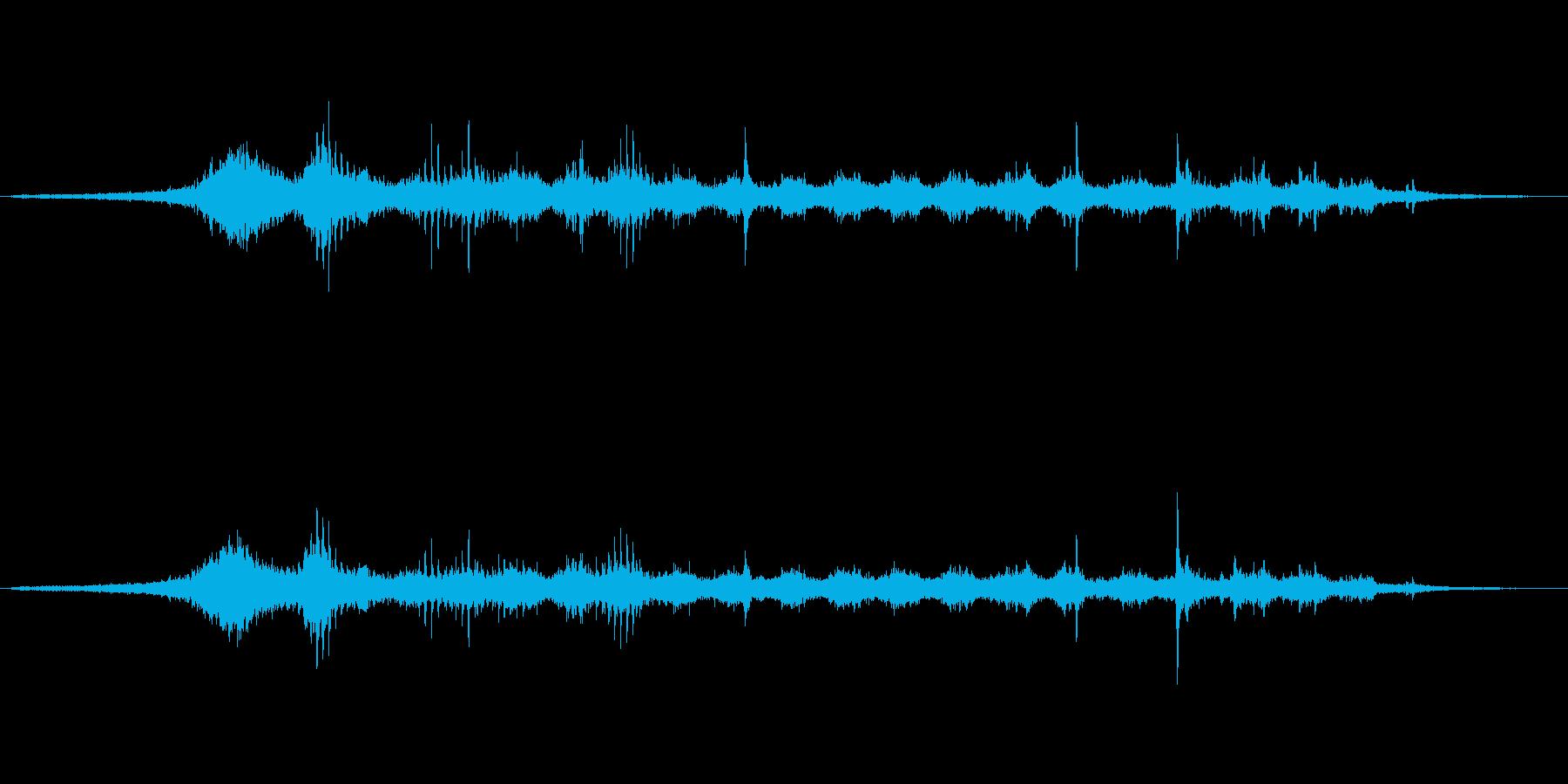 貨物列車の再生済みの波形