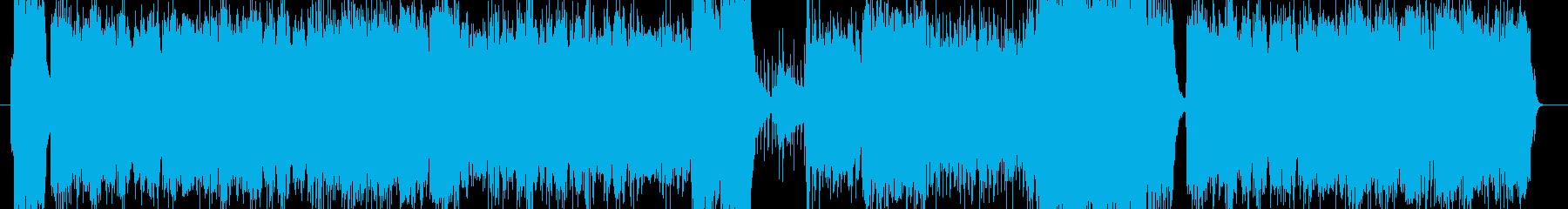 エレキギター炸裂のスピード感あるロックの再生済みの波形