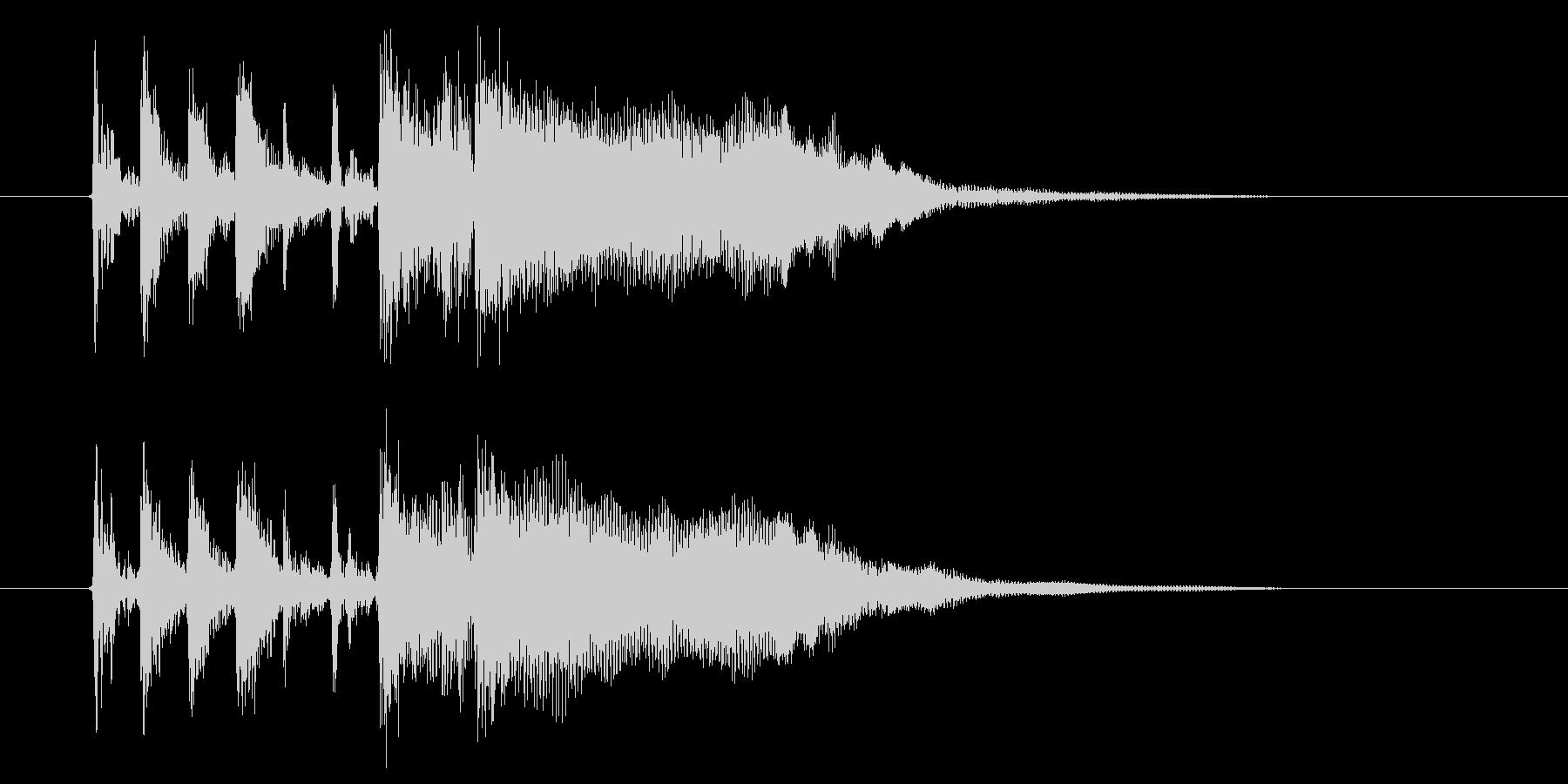 リズム感のあるドラムが印象的なBGMの未再生の波形