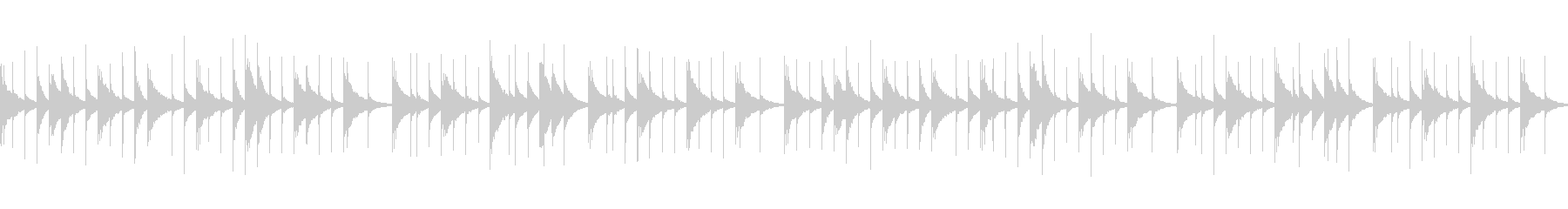 アルプス一万尺 (オルゴール)の未再生の波形