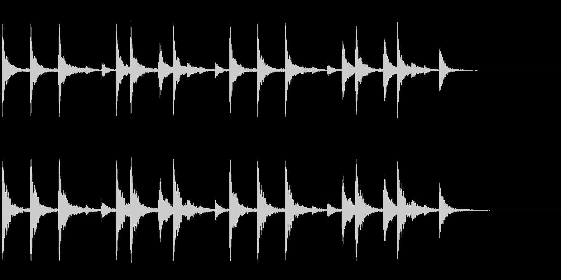 お祭りお囃子の当たり鉦のフレーズ音+FXの未再生の波形