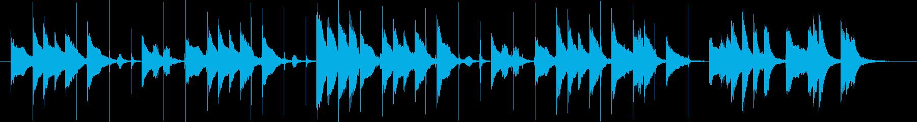 コミカルな短いBGMの再生済みの波形