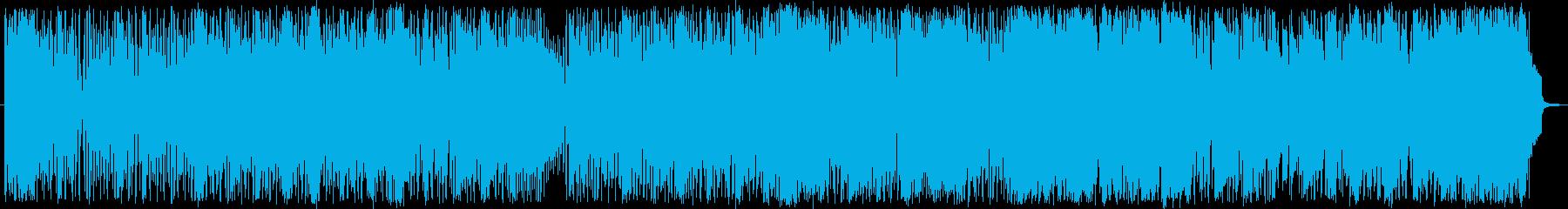 ファンクなスラップベースのフュージョン曲の再生済みの波形