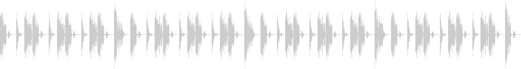 シンプルなヒップホップ系のビートの未再生の波形