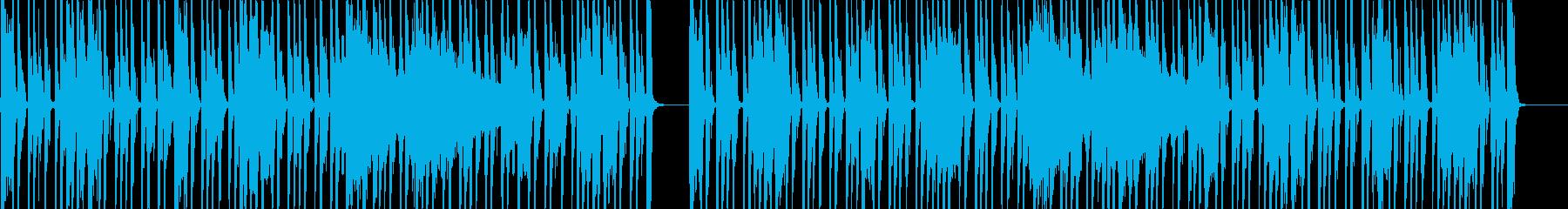 グルーヴ感たっぷりのファンク調セッションの再生済みの波形