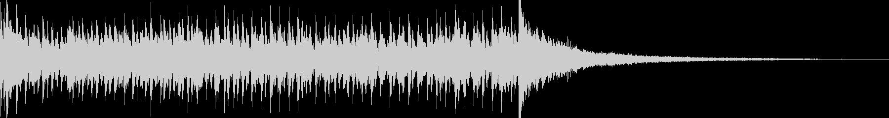 7秒でシンバルが鳴るドラムロール 豪華の未再生の波形