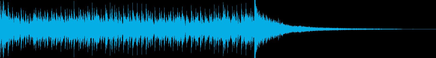 7秒でシンバルが鳴るドラムロール 豪華の再生済みの波形