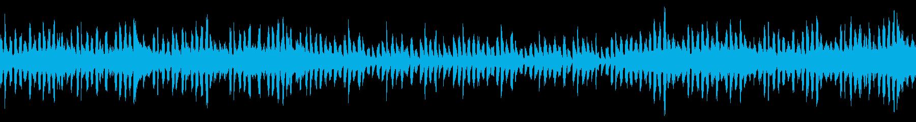 パズルゲームのタイトル画面/ループの再生済みの波形