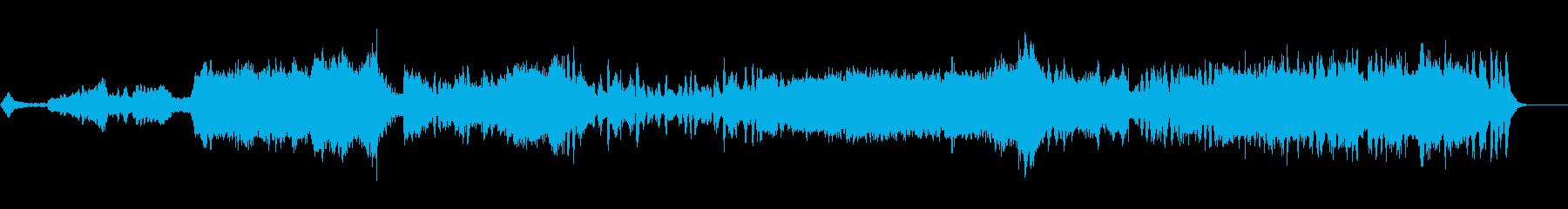壮大な高原をイメージしたオーケストラの再生済みの波形