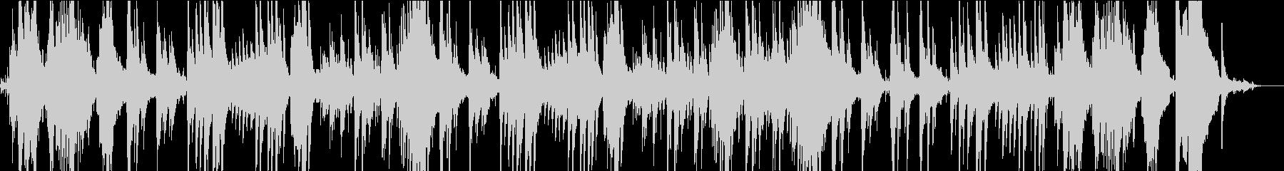 水の音と癒やしの印象派風のピアノ曲の未再生の波形