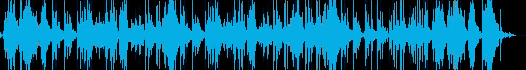 水の音と癒やしの印象派風のピアノ曲の再生済みの波形