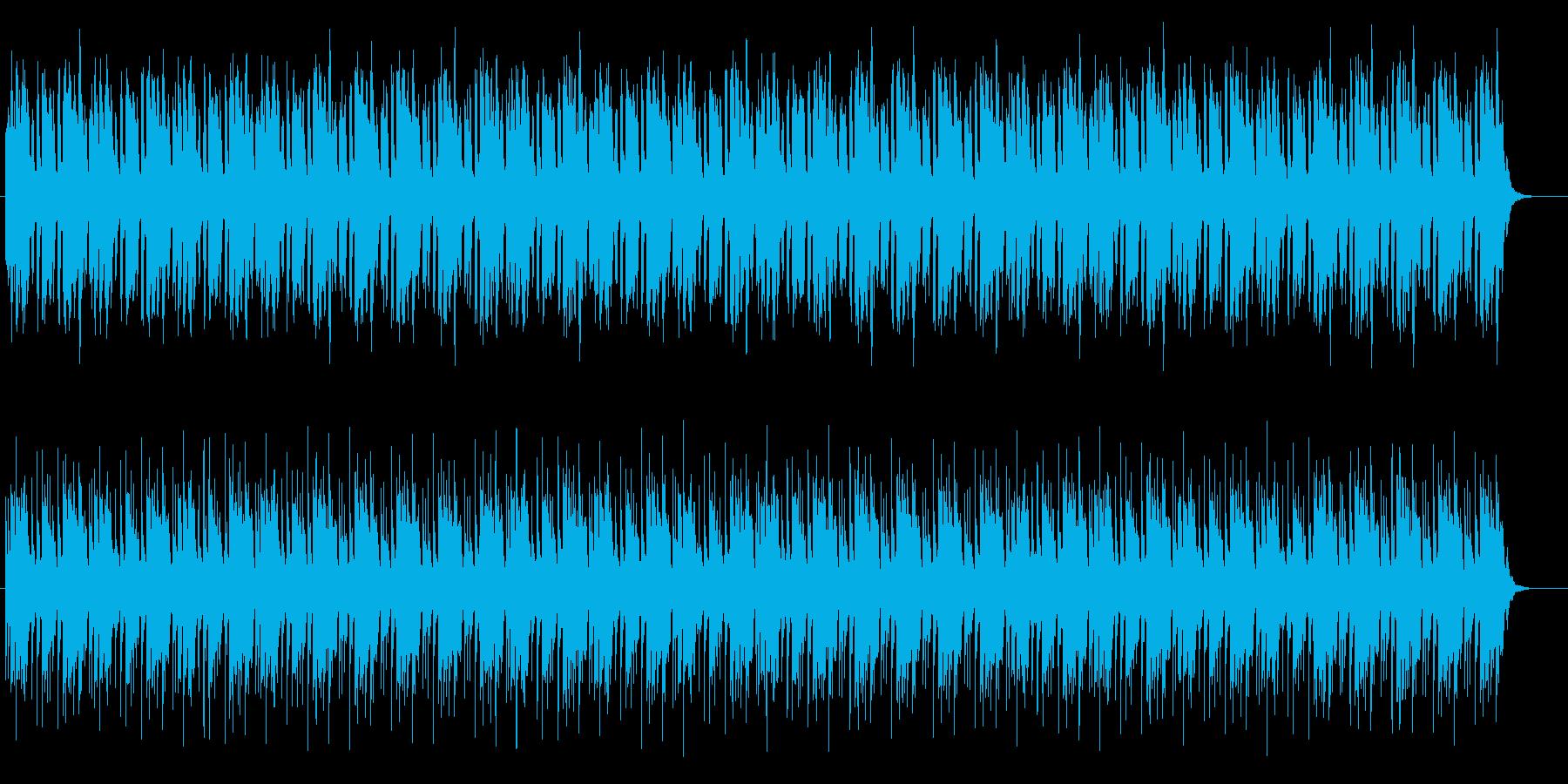 明るく単調なエレクトリックの再生済みの波形