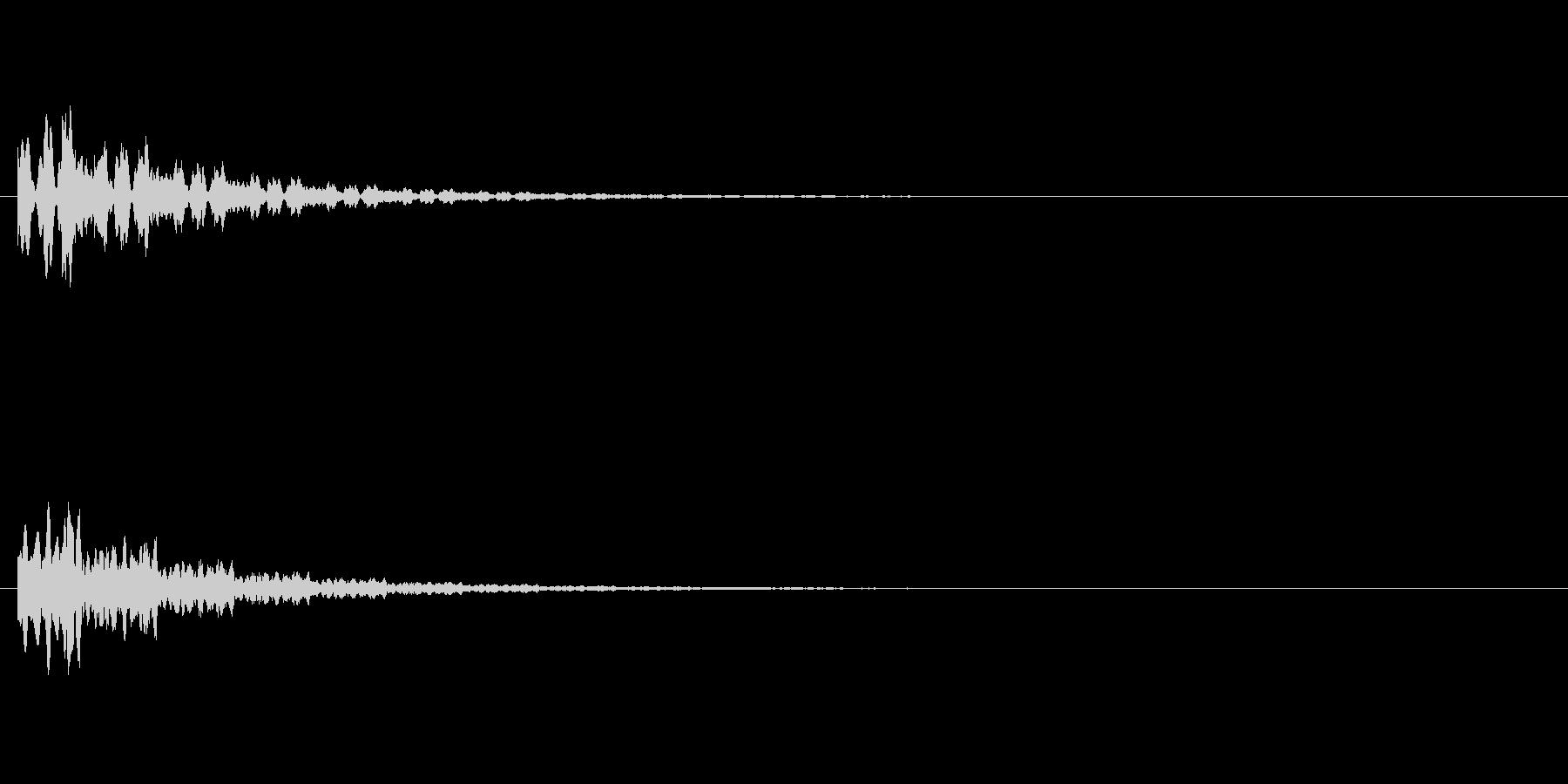 ピローン テロップ・決定音・タッチ音の未再生の波形