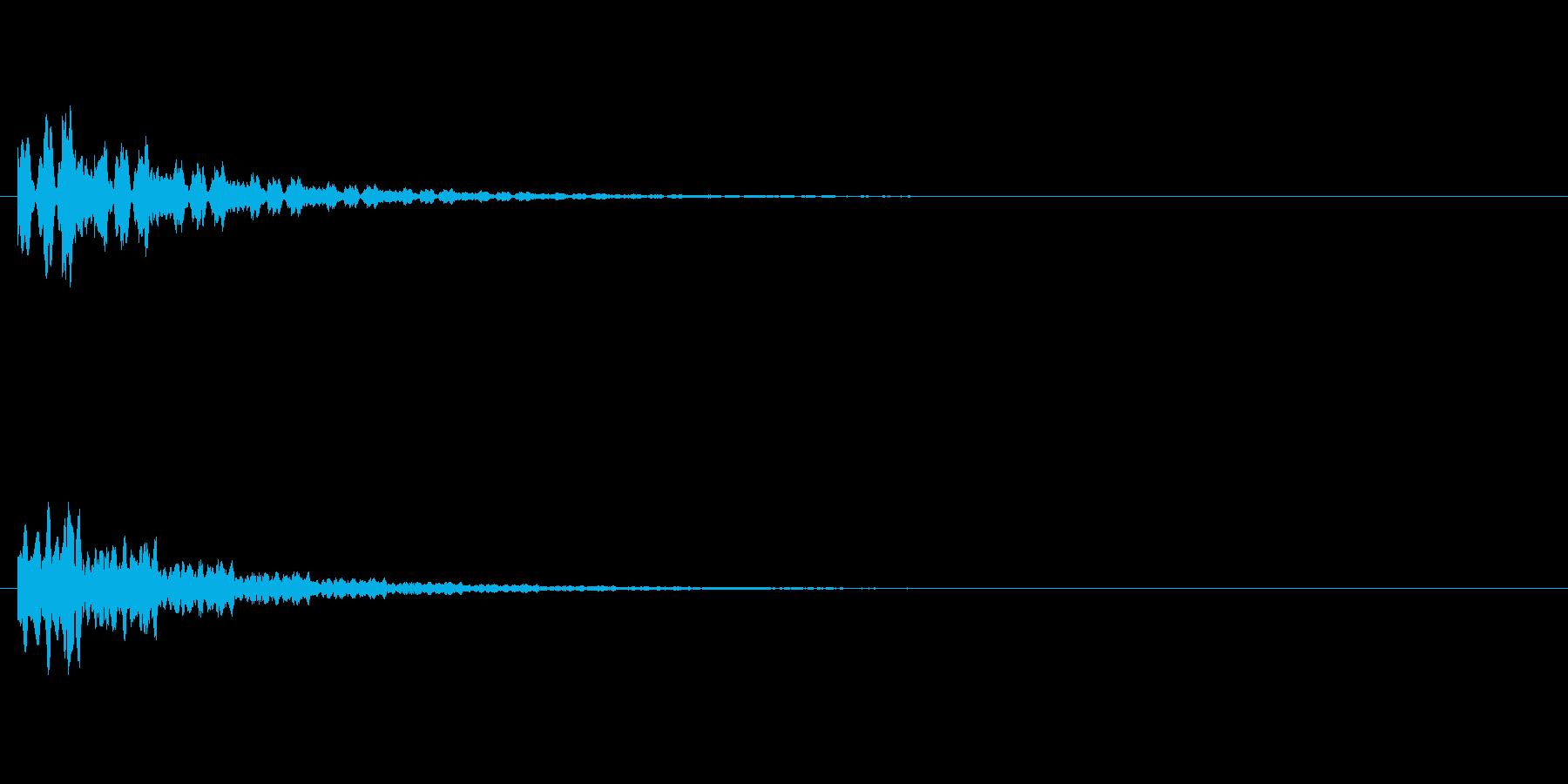 ピローン テロップ・決定音・タッチ音の再生済みの波形