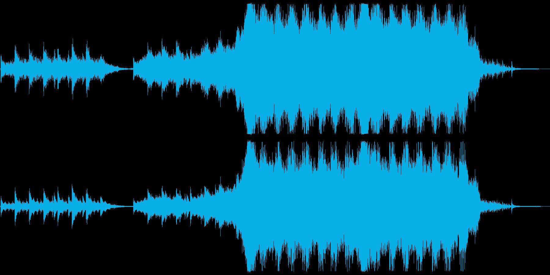 感動的なシーンに合う重厚なオーケストラの再生済みの波形