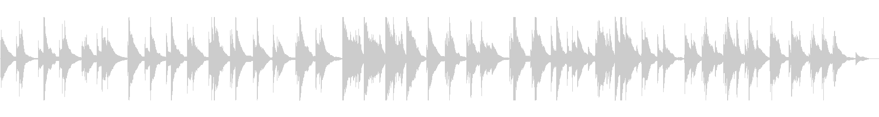 静けさの中に鳴り響くお琴の音の未再生の波形