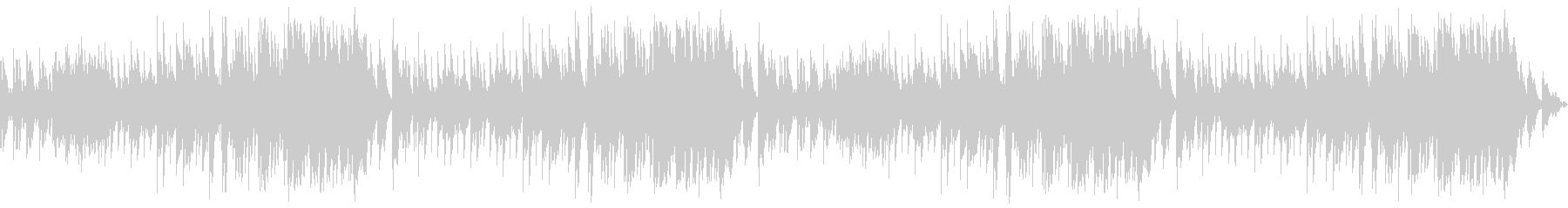 優しいピアノバラードによるBGMの未再生の波形
