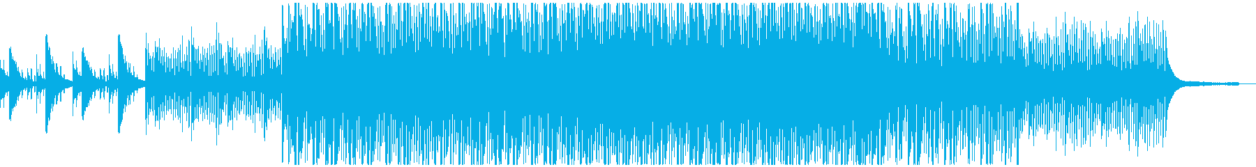 フレッシュな感じのする曲の再生済みの波形