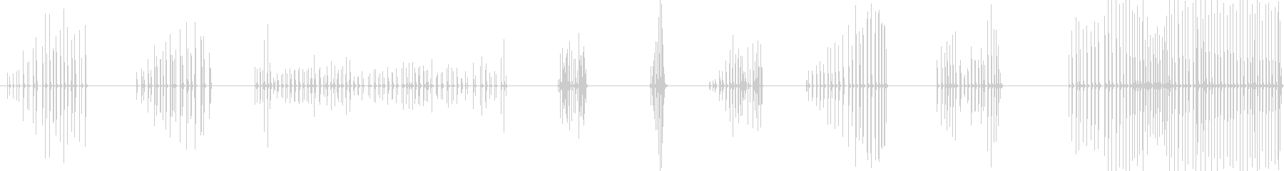 フォルダクリップ、クリック、ドラッ...の未再生の波形
