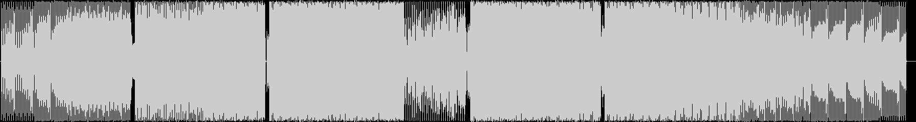 レースゲームっぽい4つ打ちの未再生の波形