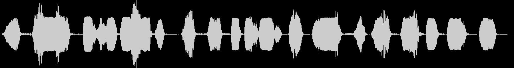 笑うシマリスのグループの未再生の波形