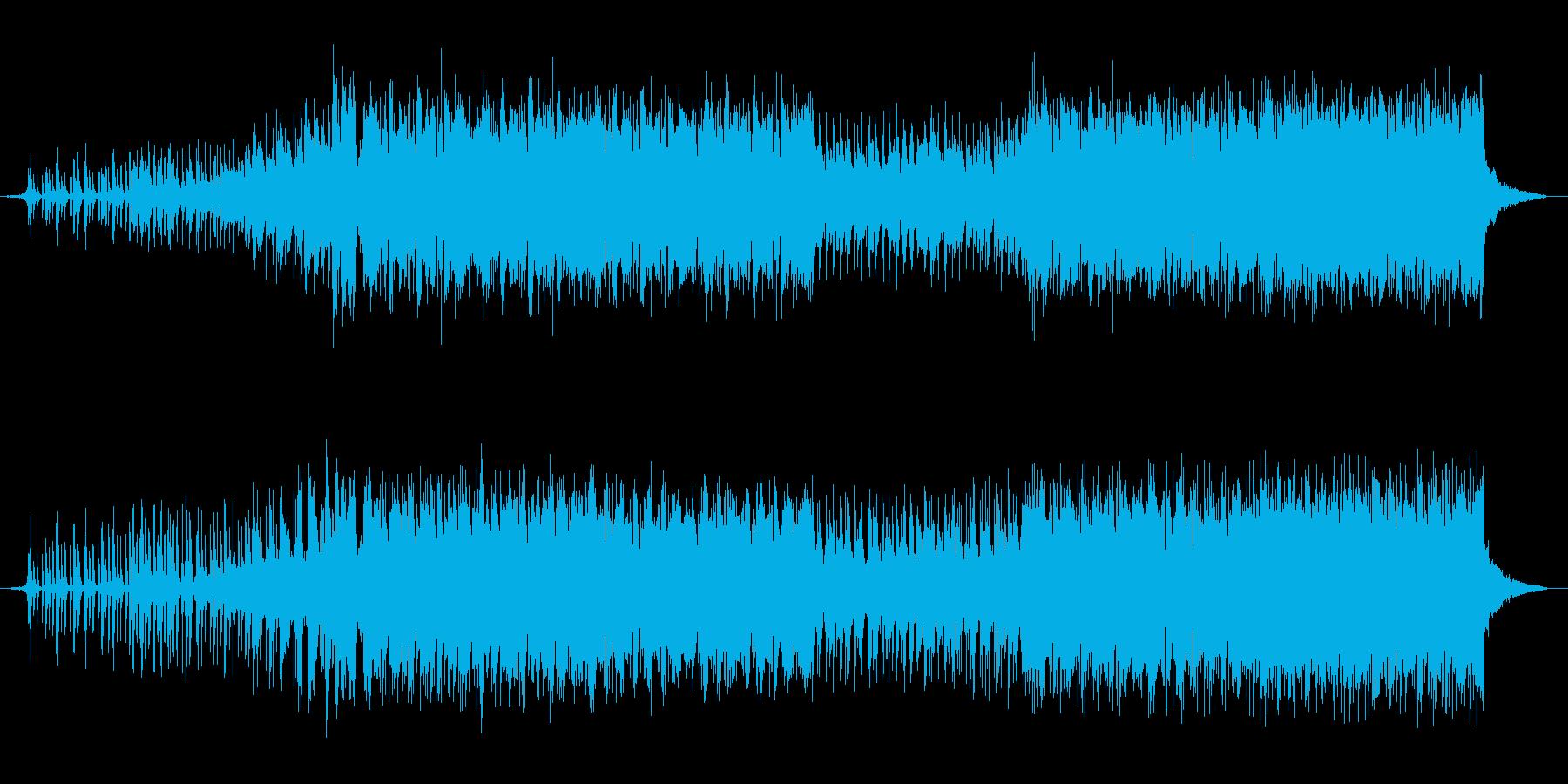 electronic pop、明るいの再生済みの波形