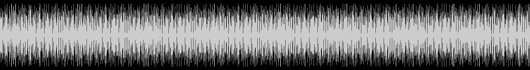 明るく跳ねるようなリズムのピアノループ曲の未再生の波形