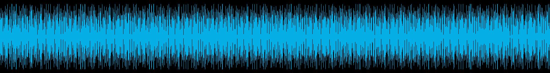 明るく跳ねるようなリズムのピアノループ曲の再生済みの波形