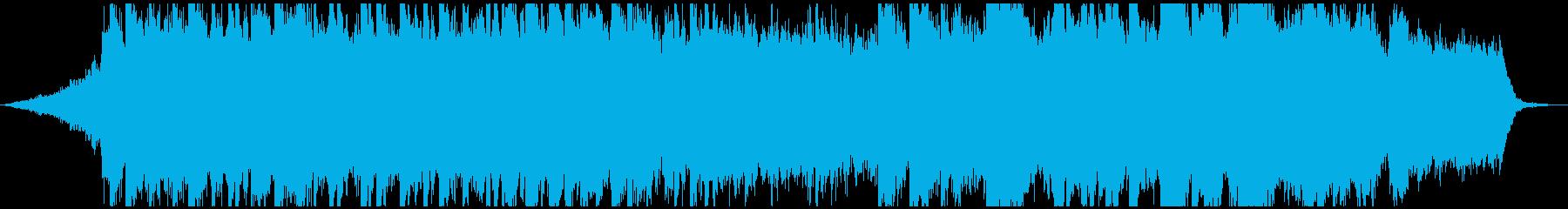 エモーショナルなピアノストリングスBGMの再生済みの波形