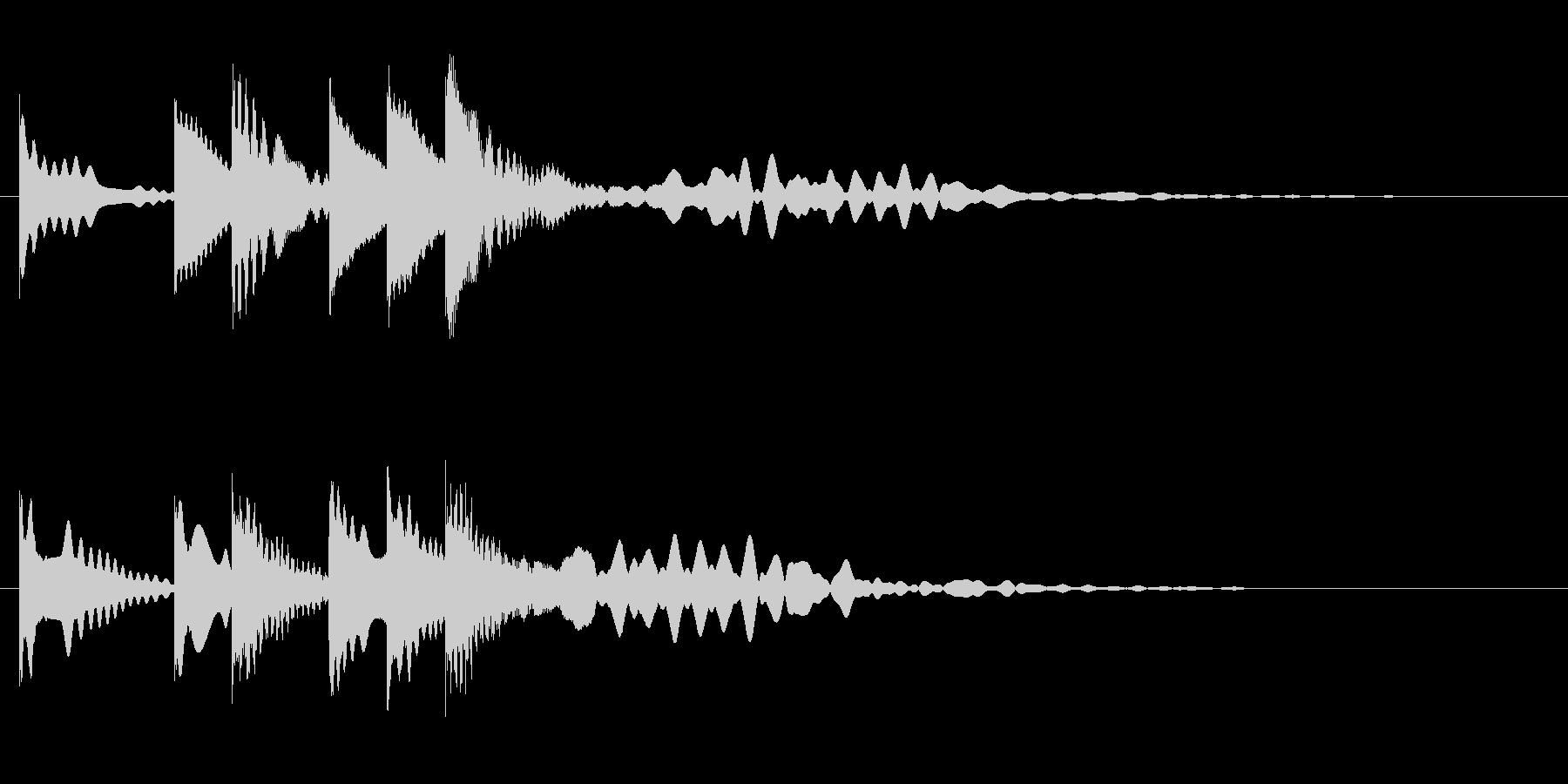 オルゴール音のミステリアスな場面転換音の未再生の波形