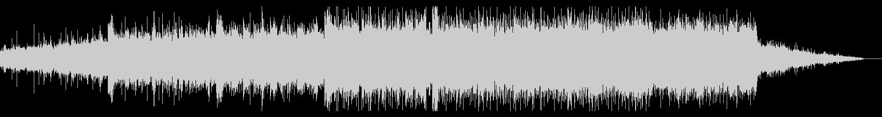 壮大なシンセティックBGMの未再生の波形