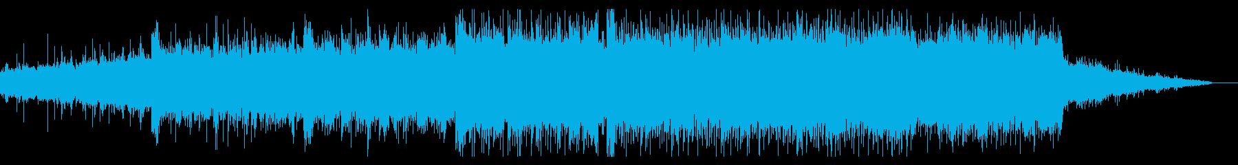 壮大なシンセティックBGMの再生済みの波形