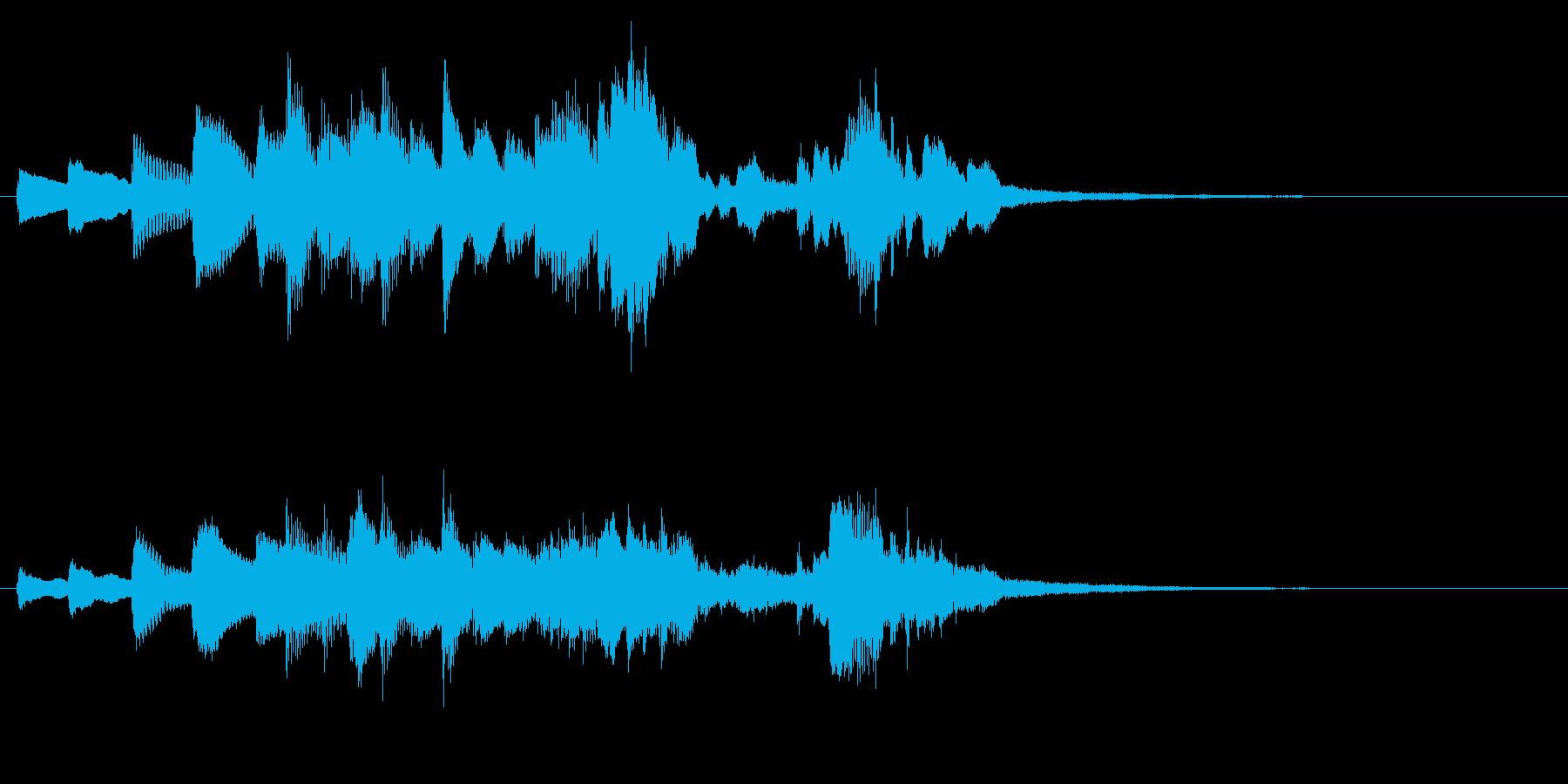 ピアノの流れるような速いフレーズの再生済みの波形