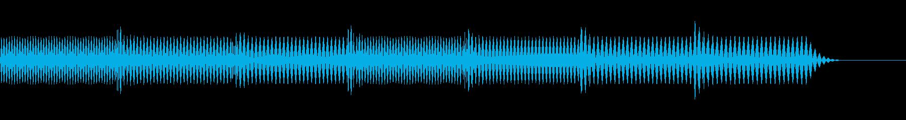 レトロゲーム風な失敗音の再生済みの波形
