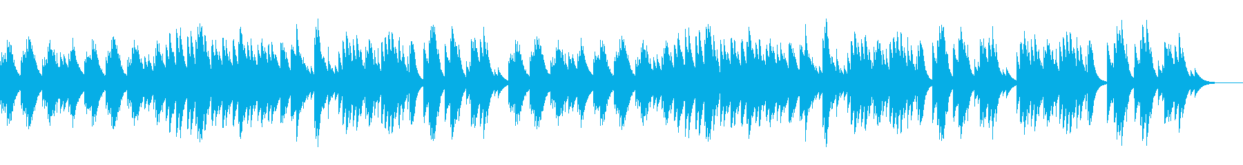 オルゴールのジブリ風切ないワルツの再生済みの波形