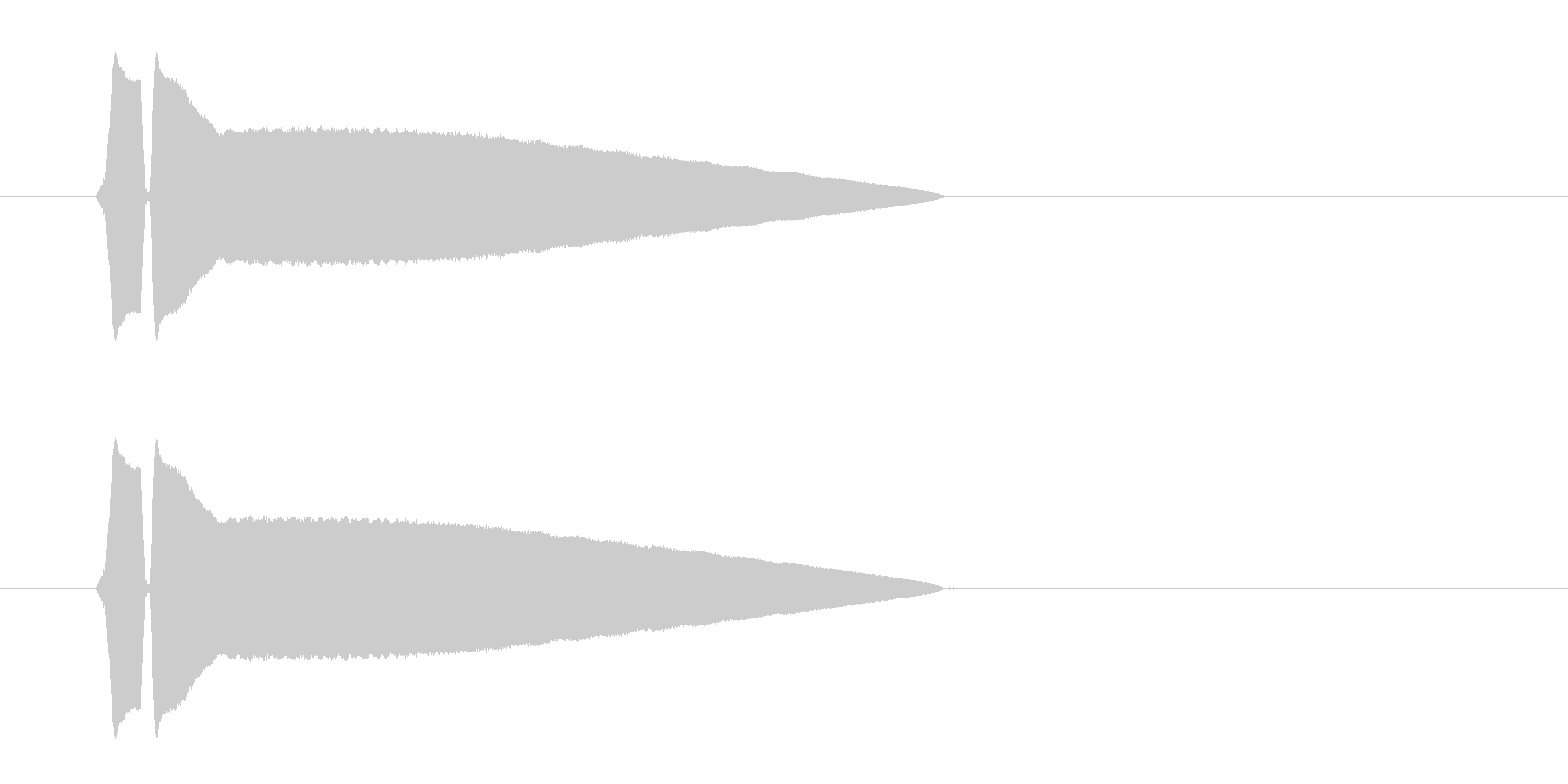 ピ、ピ、ピューという笛のような高音の未再生の波形