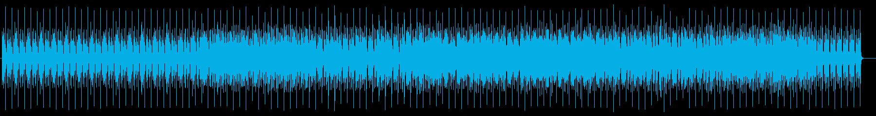 落ち着いたテンポのクセのないポップスの再生済みの波形
