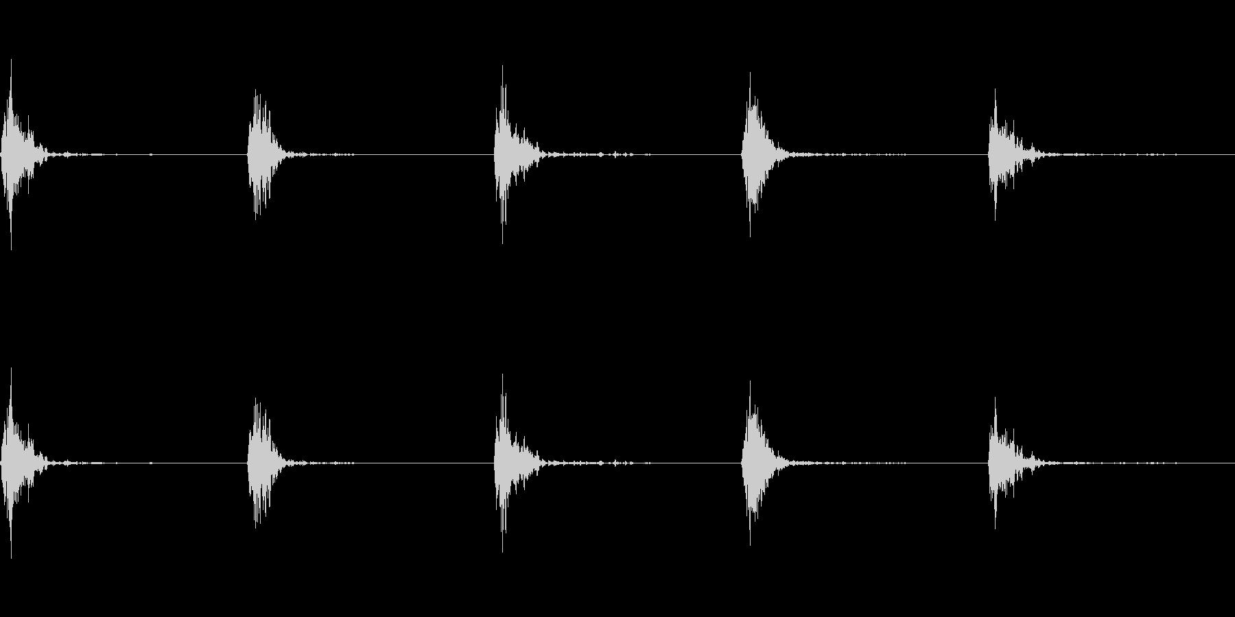神楽鈴(小)を回して鳴らした音の未再生の波形