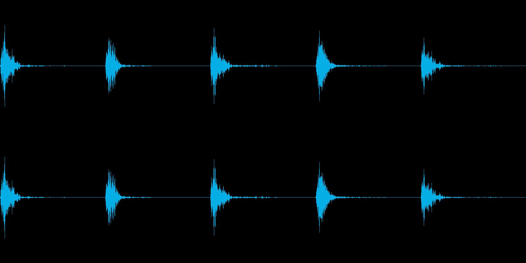神楽鈴(小)を回して鳴らした音の再生済みの波形