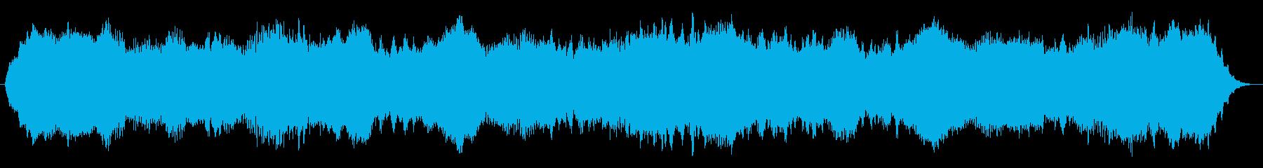 一瞬次元が歪むような雰囲気のホラーBGMの再生済みの波形