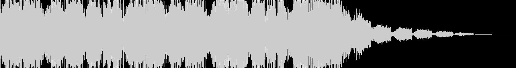 カッコイイUKハードコアテクノジングル2の未再生の波形