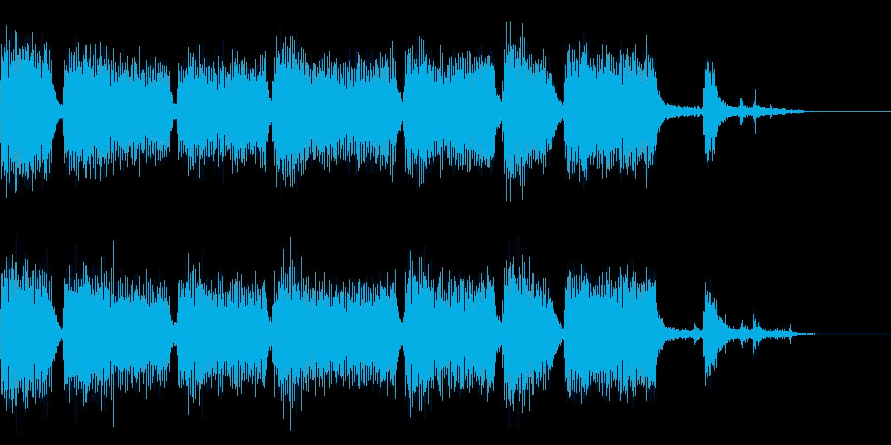 ドドドドドドドド(重機の音)の再生済みの波形