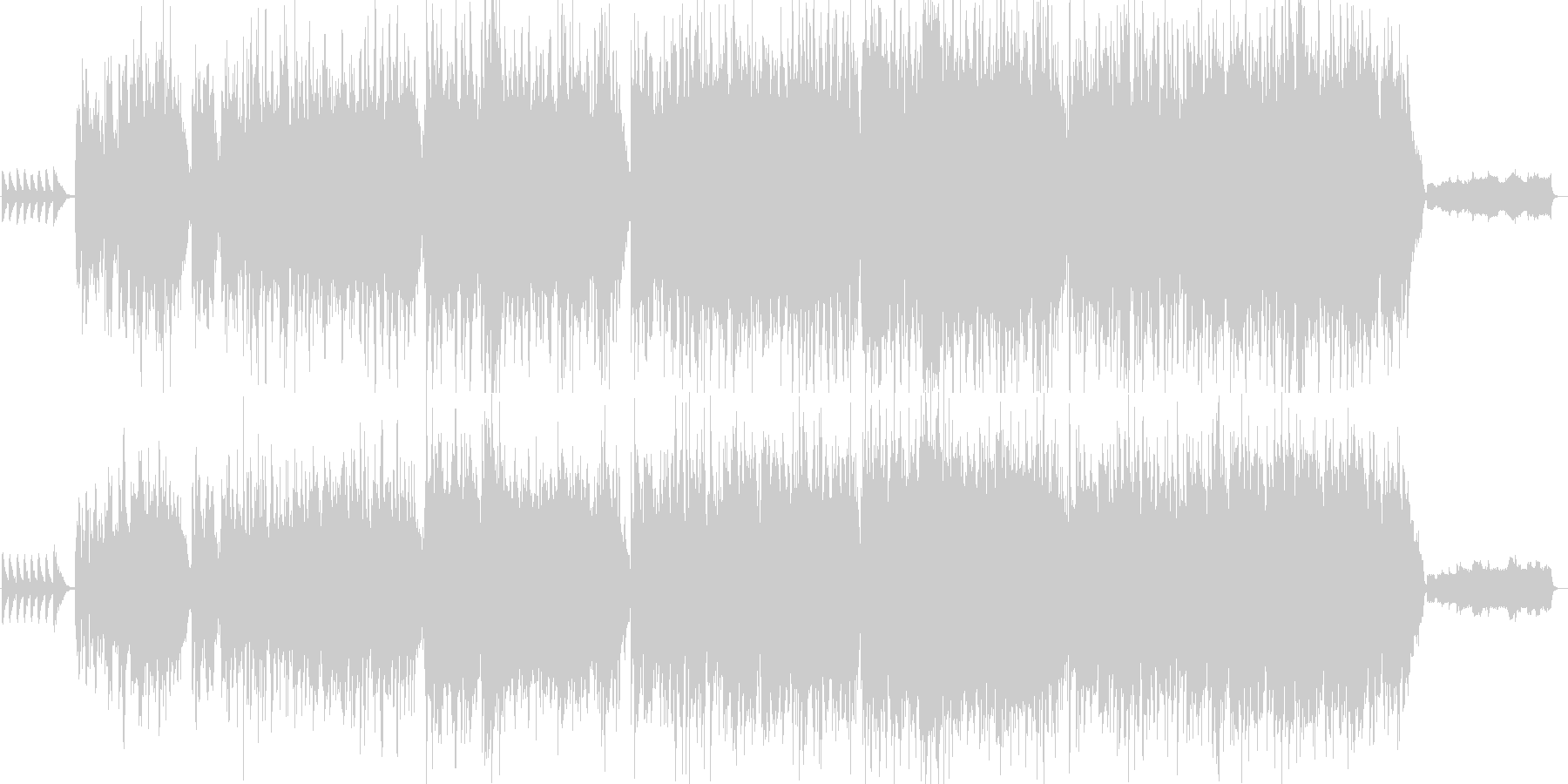 しっとりしたオルガンのメロディーの未再生の波形