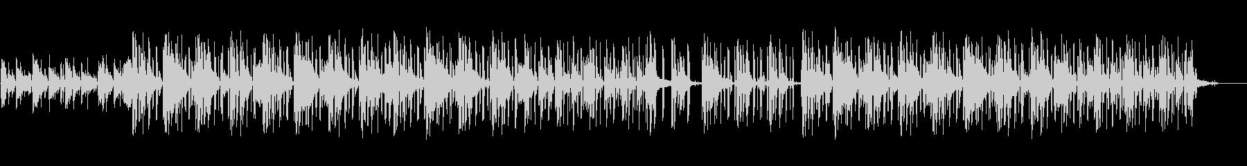 ピアノの旋律が印象的なヒップホップの未再生の波形