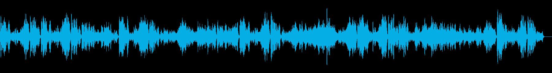 生演奏バイオリンでバッハのガボットの再生済みの波形
