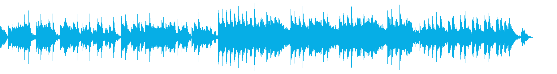 オルゴールとストリングの可愛く怖いBGMの再生済みの波形