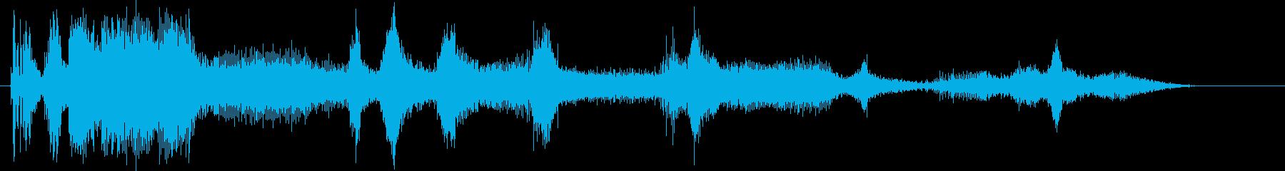 ガスエンジン;開始/改訂/アイドル...の再生済みの波形