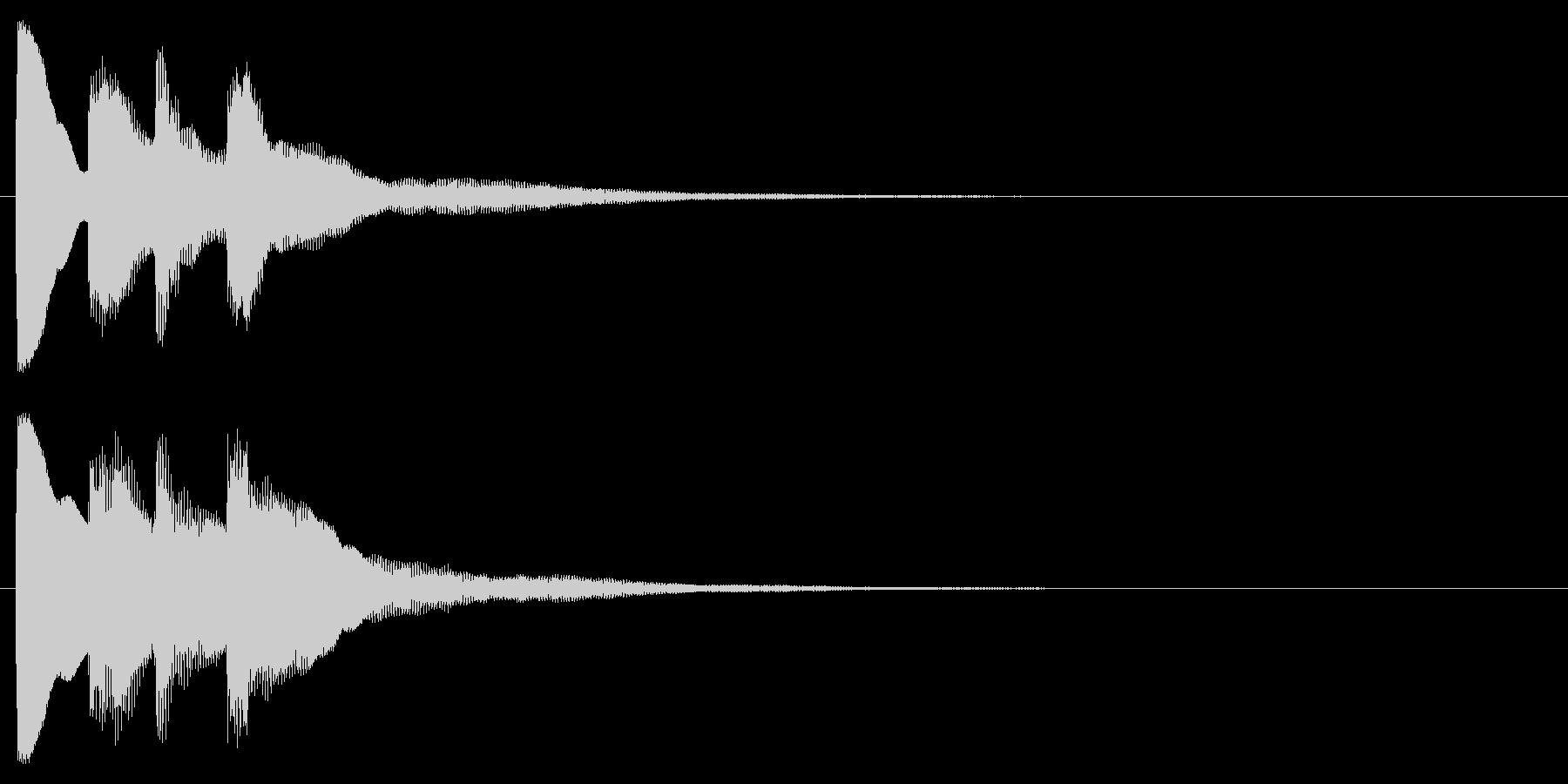 ピンポン2回②(クイズ・正解・当たり)の未再生の波形